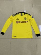 2019-20 Thai quality adult Borussia Dortmund long sleeve white soccer jersey football shirt