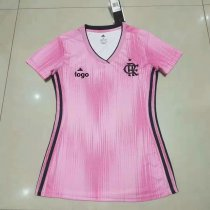 19-20 Women Thai Quality Flamengo pink football jersey soccer shirt