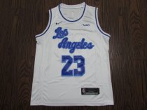 19-20 Adult Lakers basketball jersey shirt retro JAMES 23 WHITE