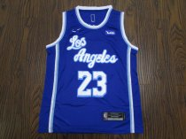 19-20 Adult Lakers basketball jersey shirt retro JAMES 23 BLUE