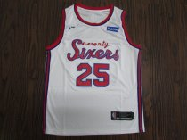 19-20 Men Philadelphia basketball jersey shirt Simmons 25 white