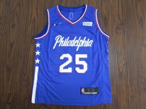 2019-20 Men Philadelphia basketball jersey shirt Simmons 25 blue