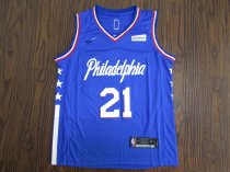 19/20 Men Philadelphia basketball jersey shirt Embiid 21 blue