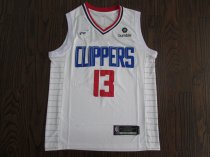 2019-20 Men Clippers basketball jersey shirt George 13 white