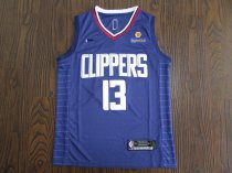 19/20 Men Clippers basketball jersey shirt George 13 blue