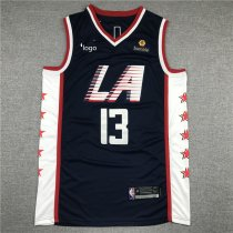 19-20 Men Clippers basketball jersey shirt George 13 navy blue