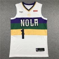19-20 Men Pelicans basketball jersey shirt Williamson 1 white