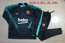 19-20 Adult jacket Barcelona green soccer tracksuit