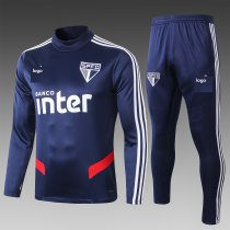 19-20 Adult jacket Sao Paulo Royal blue soccer tracksuit