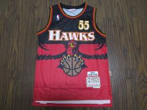 2019/20 Adult Hawks basketball jersey shirt Mutombo 55 red
