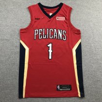 2019-20 Adult Pelicans basketball jersey shirt Willamson 1 red