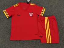 19-20 Children Wales home soccer uniforms football kits