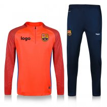 19-20 Adult jacket Barcelona orange soccer tracksuit