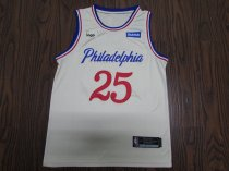 19-20 Adult Philadelphia basketball jersey shirt Siommons 25 off-white