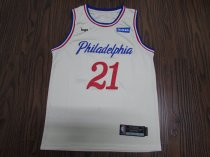 2019-20 Men Philadelphia basketball jersey shirt Embiid 21 off-white