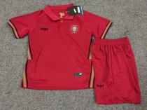 19-20 Children Portugal home soccer uniforms football kits