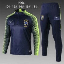 2019-20 Kids Brazil Soccer Tracksuit royal blue