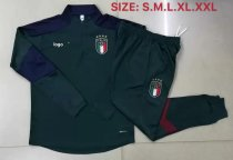2019/20 Adult jacket Italy blackish green soccer tracksuit