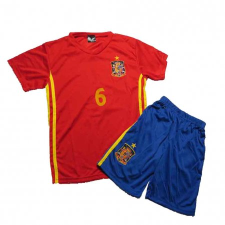 Lenrick Kids Euro 2016 Spain Home Soccer Jersey Kit Wholesale