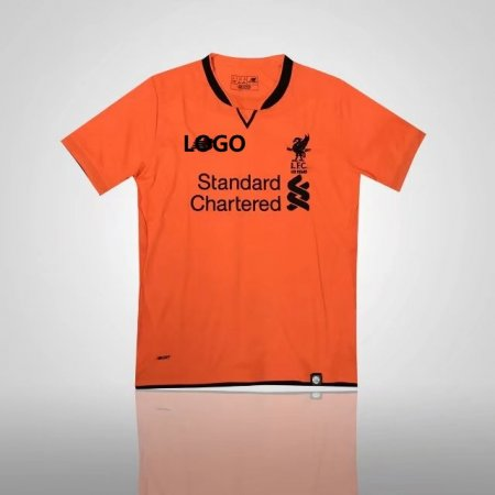 17 18 Adult Liverpool Orange Third Away Jersey Men Soccer Jersey Kits  Replica Quality a0896aa7a