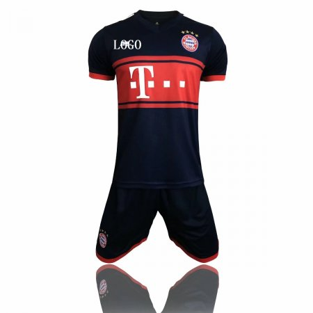 Bayren Munich Away Black/red 17-18 Soccer Uniforms Adult  Replica Football Kits