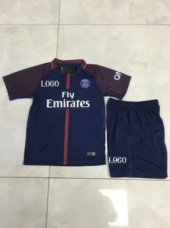 a6f65912c 17 18 Kids PSG Home Soccer Jersey Uniforms Wholesale From China Item NO   445846