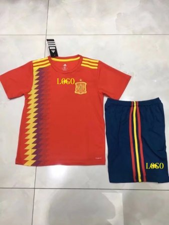 d88fa4da9d4 2018 Kids Spain Soccer Jersey Uniforms Russia World Cup Cheap Football Kits  Custom Number Name Item NO  445840