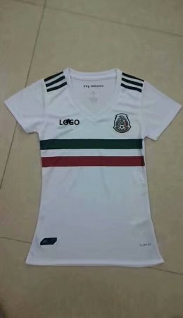 18 World Cup Women Mexico Away White Soccer Shirt  Adult Football Jersey Fan Version
