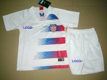 18/19 Cheap Adult USA White Soccer Jersey  Uniform  Man  Football Kits customizable soccer jerseys