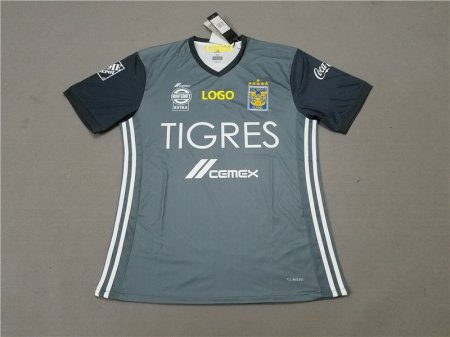 74f43388570 18-19 Men Ti-gres Away Gray Soccer Jersey-Thai Quality Football Shirt