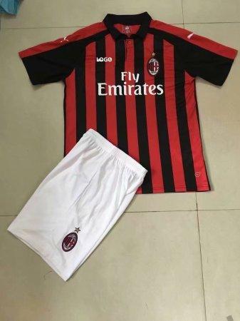 0637810ff9c 2018 19 AC Milan Home Soccer Uniform Men Football Kits Item NO  541193