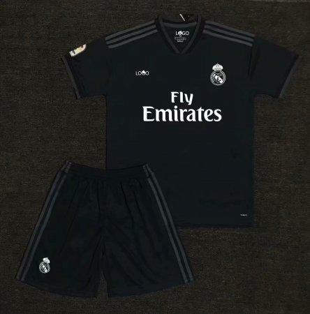 3d6c03503 2018 19 AAA Men Real Madrid Away Black Soccer Jersey Uniform Adult Football  Kits Item NO  546842