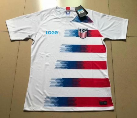 18-19 Men USA Home Soccer Jersey-Thai Quality Adult Football Shirt