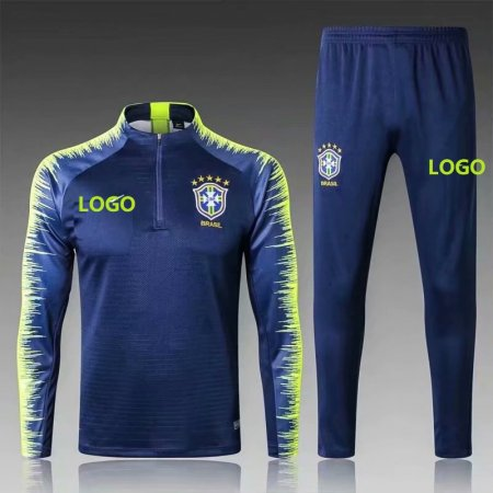 2018/19 Men Brazil Soccer Tracksuit Adult Football Training Suits