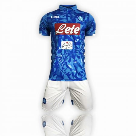 2018/19 Men Napoli Home Blue Soccer Jersey Uniform Adult Football Kits Custom Name Number