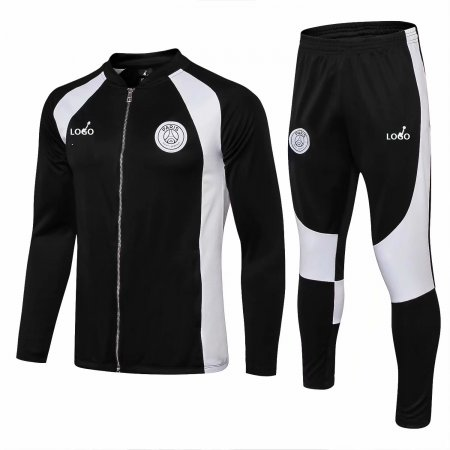 2018/19 Men PSG Black And White Training Tracksuits Adult Football Jacket Sets