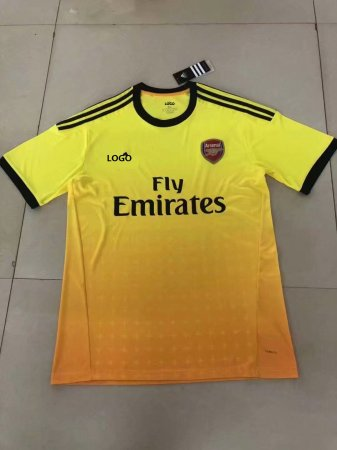 18/19 Men Thai Quality Arsenal Away Yellow Football Soccer Jerseys Football Shirt Kit