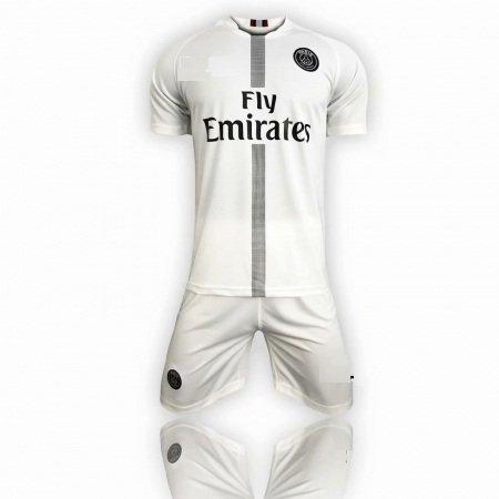 e1f3ebc27c5 2018 19 Kids PSG Away Without Logo Little Boys Soccer Uniforms Mini Kit  Item NO  562167