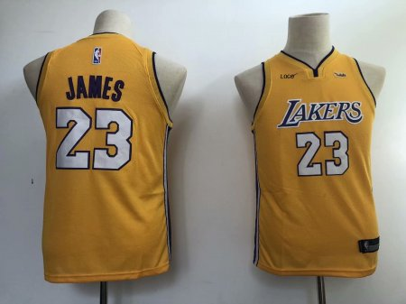 Kids Top Quality Jerseys Youth LeBron James Los Angeles Lakers #23 Swingman Gold