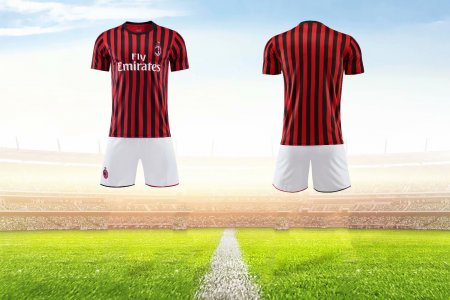 19-20 AAA Quality Adult AC-Milan-home Adult soccer uniforms