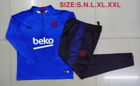 2019-20 Adult jacket Barcelona blue soccer tracksuit