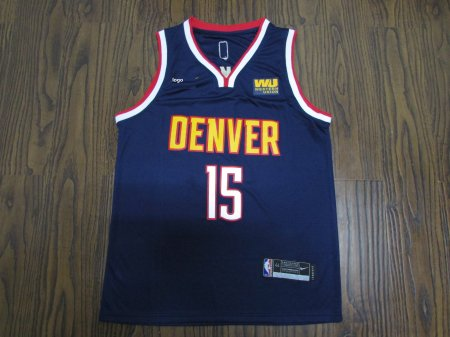 19-20 Adult Nuggets basketball jersey shirt Jokic 15 Navy blue