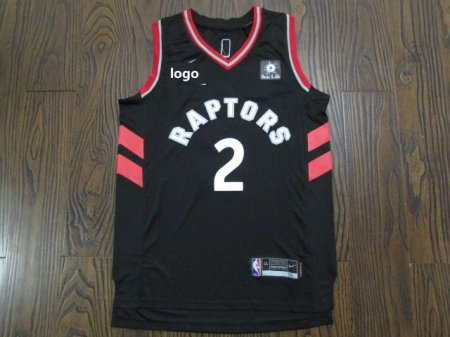 19/20 Men Raptor basketball jersey shirt Leonard 2 black