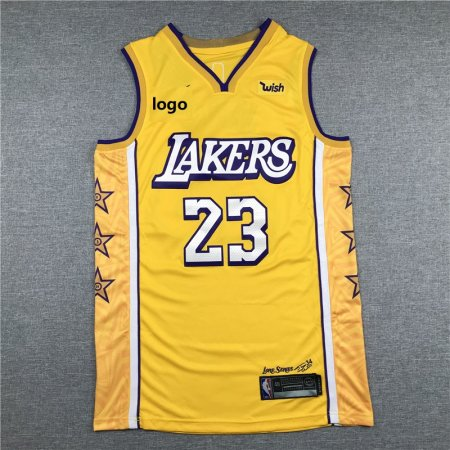 19/20 Men Lakers basketball jersey shirt James 23 yellow