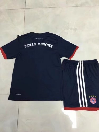 check out 4e50a 3c2fc Kids Bayren Munich Away Black/red 17-18 Soccer Uniforms Boy Replica  Football Kits soccer uniforms wholesale