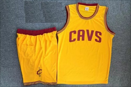 reputable site faa77 90895 Men'sAdult Cleveland Cavaliers Kevin Yellow Love Jersey Uniforms Adult  Basketball Kits Custom Name And Number