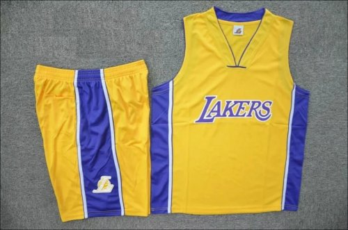 free shipping c69ef 21e9a Adult Los Angeles Lakers Yellow Jersey Uniforms Men Cheap Basketball Team  Kits Custom Name Number