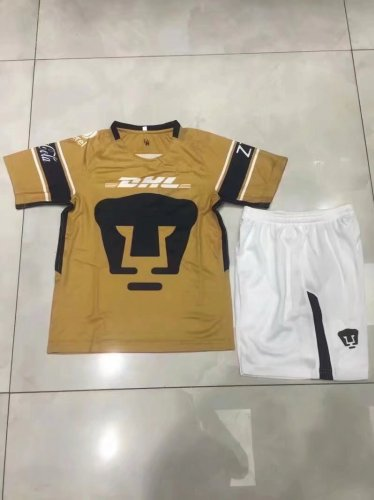 online store 5e778 4737f 2018 2019 Men MEXICO Club UNAM Football kits Mexiko Universidad Nacional  Van Rankin Brown Soccer Jerseys Mexican shorts set