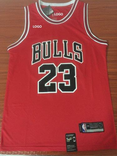 los angeles 498ad 68017 97/98 Jordan 23 Basketball Jersey Bulls Red Shirt