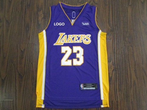 finest selection 38332 c0168 Laker Lebron 23 Purple Basketball Jersey